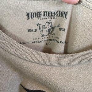 True Religion Tops - True Religion Custom Crop Top Skull Size Large